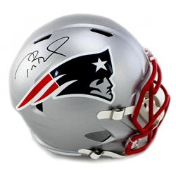 Tom Brady Signed Patriots Full-Size Speed Helmet (Tristar Hologram)