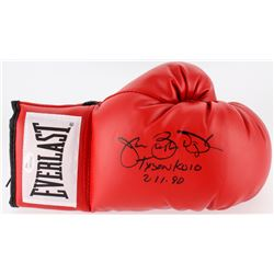 "James Buster Douglas Signed Everlast Boxing Glove Inscribed ""Tyson KO 10 2-11-90"" (JSA COA)"