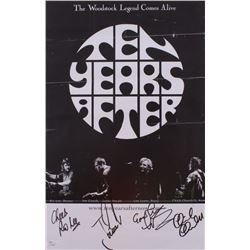 """Ten Years After"" 11x17 Poster Signed by (4) with Ric Lee, Joe Gooch, Leo Lyons  Chick Churchill (JS"