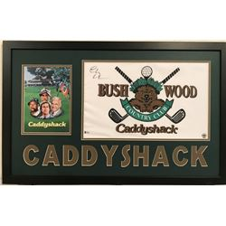 "Chevy Chase Signed ""Caddyshack"" 34"" x 42"" Custom Framed Pin Flag Display (Beckett COA)"