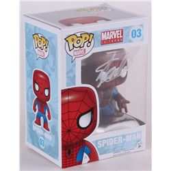 "Stan Lee Signed ""Spider-Man"" Marvel Funko Pop Vinyl Figure (Lee Hologram)"