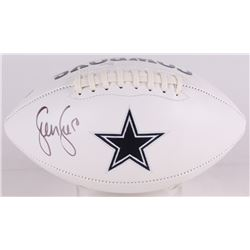 Sean Lee Signed Cowboys Logo Football (JSA COA)