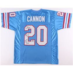 "Billy Cannon Signed Oilers Jersey Inscribed ""The 'Origninal Oilers""  ""Houston First Ever Draft Pick"""