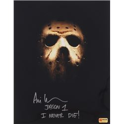 "Ari Lehman Signed Jason ""Friday the 13th"" 11x14 Photo Inscribed ""I Never Die!"" (PA COA)"