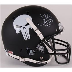 "Jon Bernthal Signed Custom Matte Black ""Punisher"" Full-Size Helmet with Original Scull Sketch (Radtk"