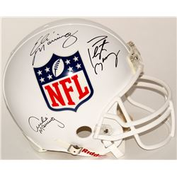 Archie Manning, Eli Manning  Peyton Manning Signed NFL Shield Full-Size Authentic On-Field Helmet (S