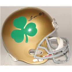 Lou Holtz Signed Notre Dame Fighting Irish Full-Size Helmet (Steiner COA)