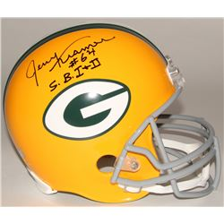 "Jerry Kramer Signed Packers Full-Size Helmet Inscribed ""S.B. I + II"" (Radtke COA)"