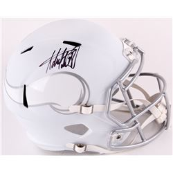 Adrian Peterson Signed Vikings Full-Size Matte White ICE Speed Helmet (Fanatics Hologram)