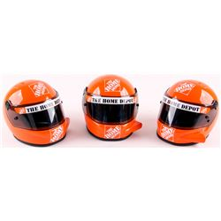 Lot of (3) Tony Stewart NASCAR Racing 1:2 Scale Mini Helmets