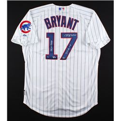 "Kris Bryant Signed Cubs Limited Edition Majestic Authentic Jersey Inscribed ""2016 WS Champs"",  ""2016"