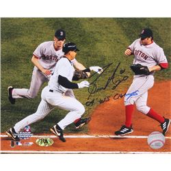 Bronson Arroyo Signed Red Sox 8x10 Photo of Infamous 2004 ALCS Play Tagging out Alex Rodriguez Inscr