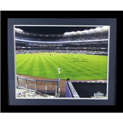 "Mariano Rivera Signed Yankees 23x27 Custom Framed Photo Display Inscribed ""Enter Sandman"" (Steiner C"