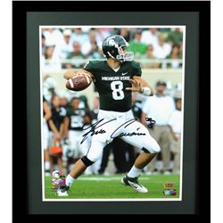 Kirk Cousins Signed Michigan State Spartans 23x27 Custom Framed Photo Display (Radtke COA)