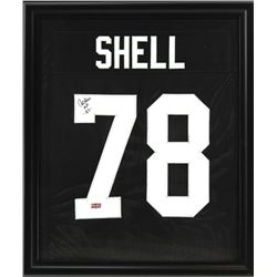 "Art Shell Signed Raiders 23x27 Custom Framed Jersey Display Inscribed ""HOF -89-"" (Radtke COA)"