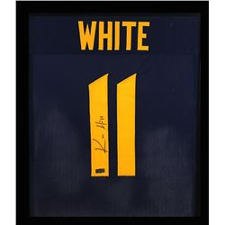 Kevin White Signed West Virginia Mountaineers 23x27 Custom Framed Jersey (Radtke COA)