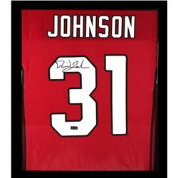 David Johnson Signed Cardinals 23x27 Custom Framed Jersey Display (Radtke COA)