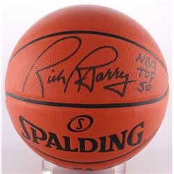 "Rick Barry Signed Game Ball Series Basketball Inscribed ""NBA Top 50"" (Schwartz COA)"