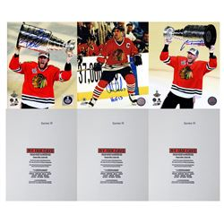 Chicago Blackhawks Signed Mystery Box 8x10 Photo - Schwartz Sports Champions Edition – Series 3 (L