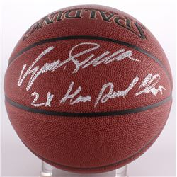 "Dominique Wilkins Signed Basketball Inscribed ""2x Slam Dunk Champ"" (Schwartz COA)"