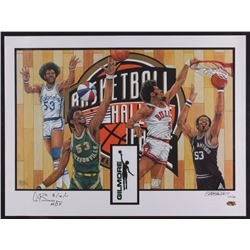 "Artis Gilmore Signed LE Basketball Hall of Fame 18x24 Poster Inscribed ""8/12/11 HOF"" (MAB Hologram)"