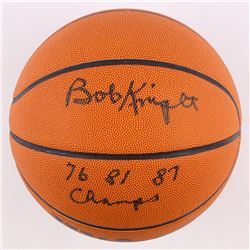 "Bobby Knight Signed NCAA Basketball Inscribed ""76 81 87 Champs"" (Schwartz COA)"