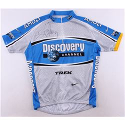 Lance Armstrong Signed Discovery Channel Cycling Jersey (Schwartz COA)