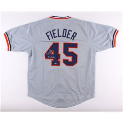 "Cecil Fielder Signed Tigers Jersey Inscribed ""Big Daddy"" (Schwartz COA)"