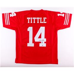 "Y.A. Tittle Signed 49ers Jersey Inscribed ""HOF 71"" (Schwartz COA)"