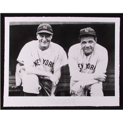 "The Hulton Archive - Babe Ruth  Lou Gehrig ""The Iron Horse  The Babe"" Limited Edition 17x22 Fine Art"