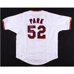 "Byung-ho Park Signed Twins Jersey Inscribed ""Park Bang!"" (Schwartz COA)"