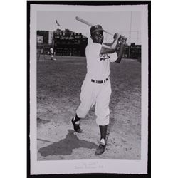 "The Hulton Archive - Jackie Robinson ""On Deck"" Limited Edition 16x23 Fine Art Giclee on Paper #1/375"
