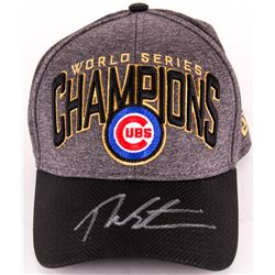 Theo Epstein Signed Cubs 2016 World Series Champions New Era Hat (Steiner COA)