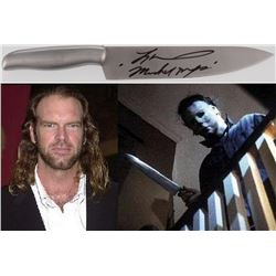 "Tyler Mane Signed ""Halloween"" Authentic Stainless Steel Butcher Knife Inscribed ""Michael Myers"" (PA"