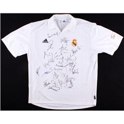 2002-03 Real Madrid Adidas Polo Team Signed by (26) with Luis Figo, Zinedine Zidane, Iker Casillas,