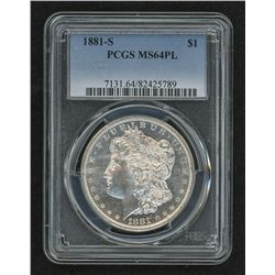 1881-S Morgan Silver Dollar (PCGS MS 64 Proof Like)