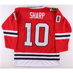Patrick Sharp Signed Blackhawks Jersey (Beckett COA)