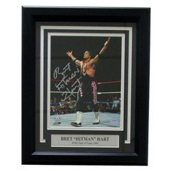 "Bret ""Hitman"" Hart Signed WWE 11"" x 14"" Custom Framed Photo Display (SI COA)"