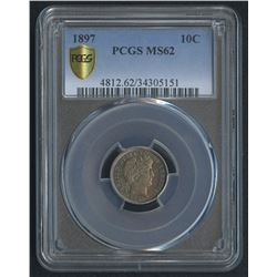 1897 10¢ Barber Dime (PCGS MS 62)
