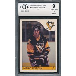 1985-86 O-Pee-Chee #9 Mario Lemieux RC (BCCG 9)