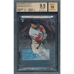 2014 Bowman Sterling Rookie Autographs #BSRAMB Mookie Betts (BGS 9.5)
