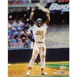 Rickey Henderson Signed Athletics 16x20 Photo (Steiner COA)
