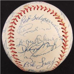 1978 Athletics ONL Baseball Team-Signed by (27) with Red Schoendienst, Curt Flood, Bob Lacey, Jack M