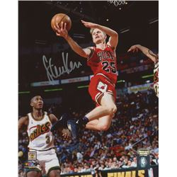 Steve Kerr Signed Bulls 8x10 Photo (Schwartz COA)