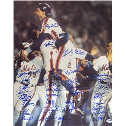 1986 Mets 16x20 Photo Team-Signed by (35) with Gary Carter, Jesse Orosco, Keith Hernandez, Ray Knigh
