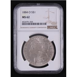 1884-O Morgan Silver Dollar (PCGS MS62)