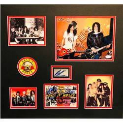 Guns N' Roses Band-Signed 23x25 Custom Framed Display with (8) Signatures Including Izzy Stradlin, A