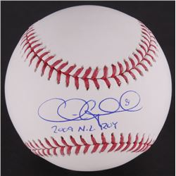 "Chris Coghlan Signed OML Baseball Inscribed ""2009 NL ROY"" (Schwartz COA)"