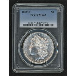 1890-S Morgan Silver Dollar (PCGS MS 63)