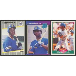 Lot of (3) Ken Griffey Jr. Rookie Cards with 1989 Score Rookie/Traded #100T RC, 1989 Donruss #33 RR
